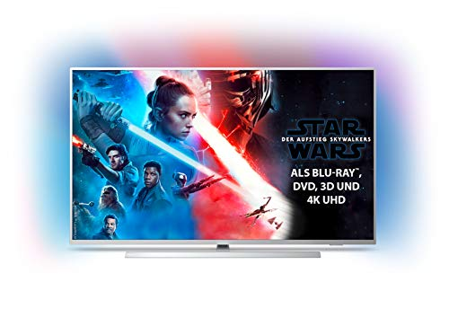 Philips Ambilight 50PUS7304/12 Fernseher 126 cm (50 Zoll) Smart TV (4K, LED TV, HDR 10+, Android TV, Google Assistant, Alexa kompatibel, Dolby Atmos) Hellsilber [Modelljahr 2019]