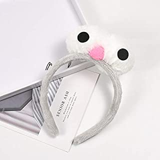 Hair band Photo Modeling Headdress Cute Big Eye Hair Band Girl Elastic Head Band Hair Hoop Hair Ball Hair Accessories MJZCUICAN (Color : Gray, Size : Free)