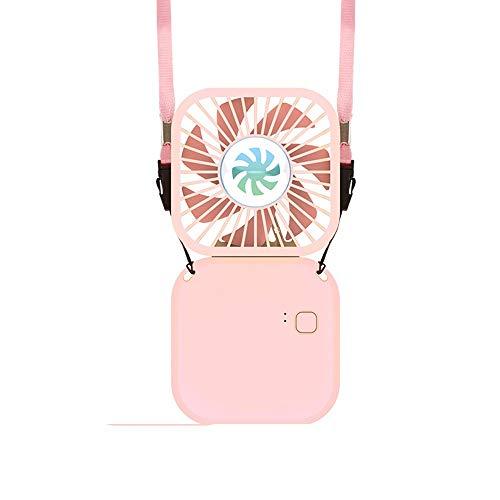 ZXAOYUAN Mini Ventilador De Cuello De Ventilador De Mano Plegable USB Recargable Portátil 3000mah Ventilador De Enfriamiento Personal con 3 Velocidades