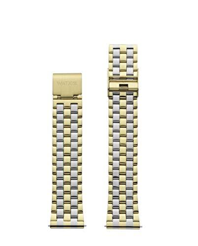 Brazalete de Acero de la Marca Watx. Modelo Bracelet Basic/Gold&Silver / 38mm. Referencia WXCO3018.