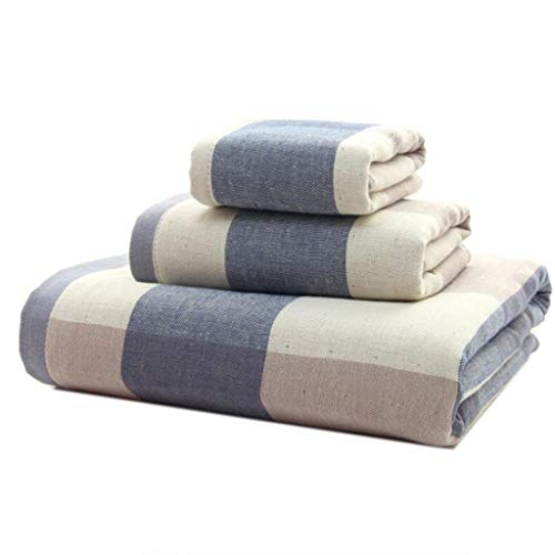 WHZG Juego de toallas 3 juegos de ajuste de toalla absorbente de algodón que incluye 1 toalla cuadrada 34 × 34cm1 toalla 76 × 34cm1 toalla de baño 140 × 70 cm La selección de traje de casa más ideal T