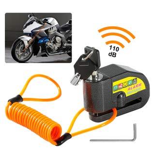 ZITFRI Lucchetto Antifurto con un Dispositivo di Allarme Sensibile da 110DB per Scooter Elettrico e Moto, Bici Lucchetto Monopattino Elettrico in Acciaio Wire Lock Freni, Impermeabile