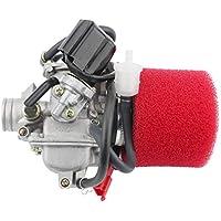 GOOFIT Carburador PD24J con Filtro de Aire 42mm Rendimiento para 4 Tiempos 125cc 150cc 152QMI 157QMJ Motor ATV Quad Go Kart Pit Bike Ciclomotor y Scooter Plata