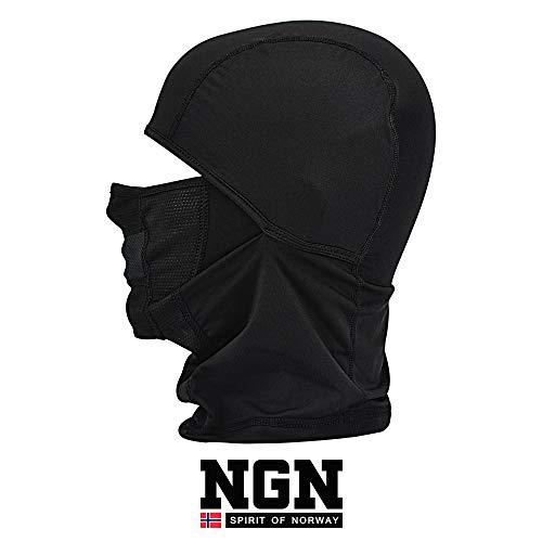 NGN Balaclava Schwarz für Damen & Herren – Sturmhaube Black für Ski, Snowboard, Motorrad & Fahrrad | Schwarze Sturmmaske | Atmungsaktive Skimaske | Gesichtsmaske | Outdoor Face-Mask | Motorradmaske
