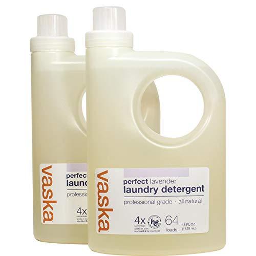 Vaska Lavender Laundry Detergent (48oz fl. oz. bottles), 2 PACK