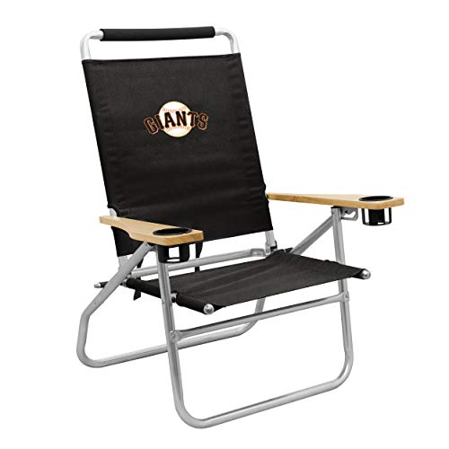 logobrands MLB San Francisco Giants Adult Unisex Beach Chair, Black, One Size