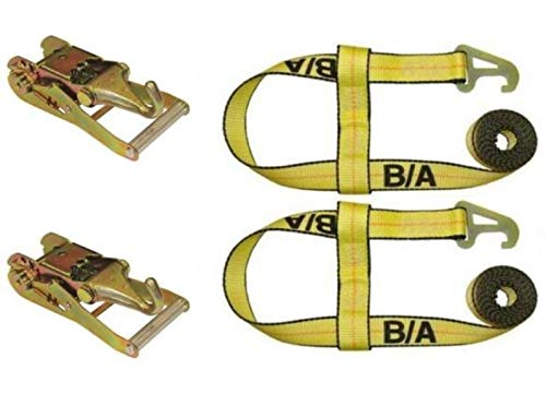 Great Price! BA Products Qty. 2, 38-JD5-x2, 38-27-x2 Straps and Ratchets with Forged Finger Hook for...