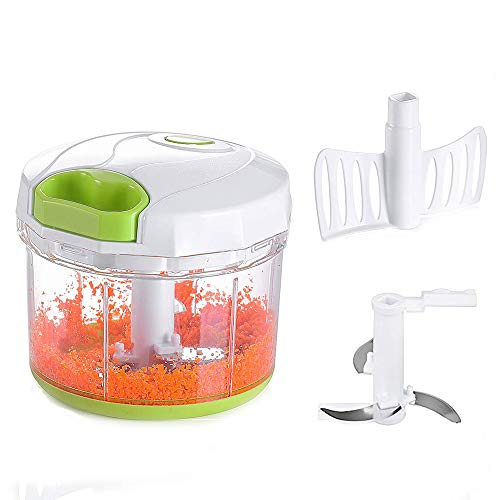 Manual Hand Pull Food Chopper Large Capacity Kitchen Onion Garlic Vegetable Blender Mincer(4 cup) by Vinipiak