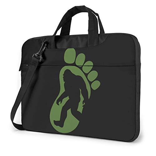 Bigfoot Footprint Laptop schoudertas met handgreep dragen Messenger handtas