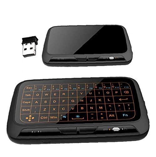 Aire Mouse Remote 2.4GHz inalámbrico pantalla completa Teclado táctil con función de retroiluminación Accesorios para computadora
