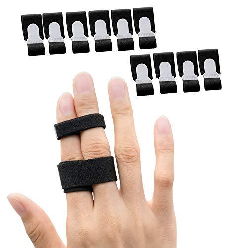 Sumifun 10x Trigger Finger Schiene, Fingerschiene Tape, fingerbandage für kleiner finger, mittelfinger, ringfinger, Verstellbare Fingerschutz für Tenosynovitis Gebrochene Finger
