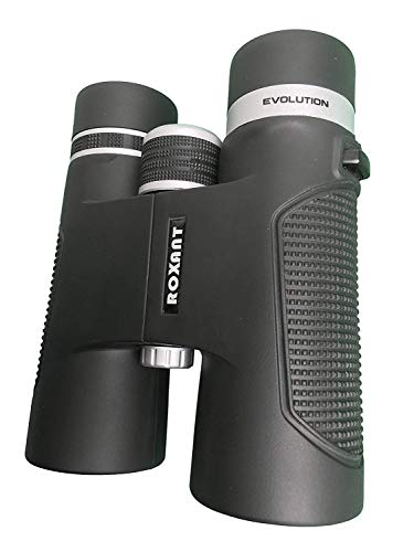 Roxant Authentic Evolution Professional High Definition Long Range Binoculars for Adults   10x42 Shockproof, Dust Proof, Weatherproof Rubber Armor, Sturdy Metal Alloy Frame + Case & Accessories