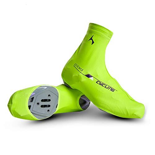 Cubrezapatillas Ciclismo (Verde, L)