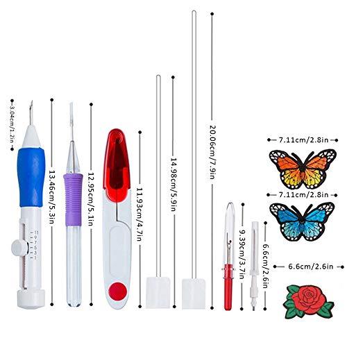 Bongles Magie-Stickerei-Pen-Nadel Punch-Pen-Set-fertigkeit-Werkzeug-abs-Kunststoff Schlags Nadeln DIY Fertigkeit Für Stickerei Einfädler DIY Nähen