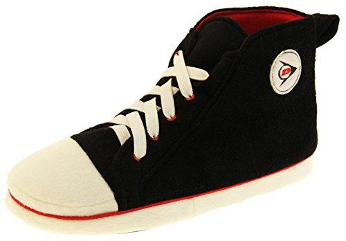 Dunlop Zapatillas de Estar por Casa Hombre Unisex Adulto Botas Calzado Negro EU 46-47 (XL)
