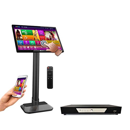 TSRV57-4TB HDD,90K English CDG,VCD,DVD +Filipino VCD+ Spanish CDG Songs, 22, Touch Screen Karaoke Player,Select Songs Via Monitor and Mobile Device, Remote Controller Include.