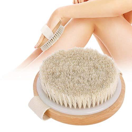 Cepillo corporal, cepillo corporal para hombre y mujer para cepillado en seco y húmedo cuerpo, espalda, pierna, mano cepillo suave pelo cuerpo piel limpieza ducha masaje cepillo cepillo baño