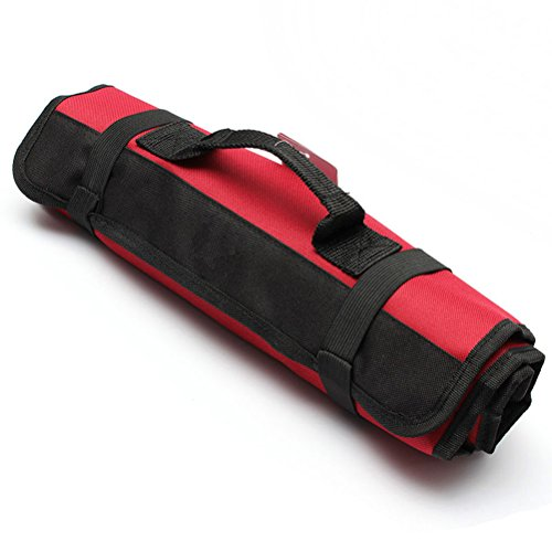 PIXNOR Estuche porta herramientas Enrollable (Rojo)
