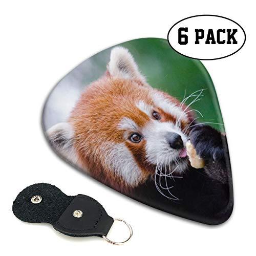Rterss Celluloid Gitaar Picks Sampler Pick Inclusief Dunne Medium Zware Gauges 6 Pack Rood Panda Minder Panda Voedsel Leuke Aangepaste