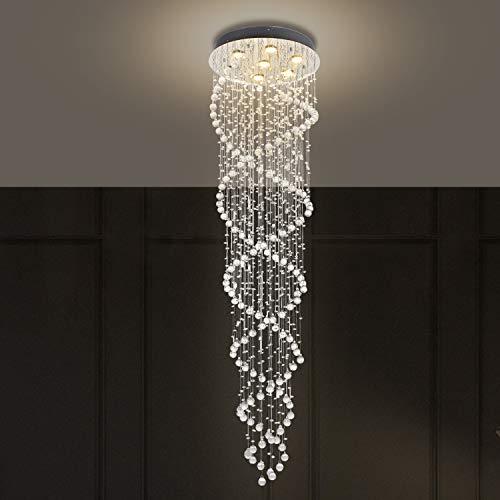 Dst moderne Kristall-Deckenleuchte Double Spiral