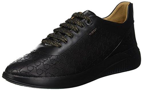 Geox Damen D Theragon C Sneaker, Schwarz (Black C9999), 37 EU