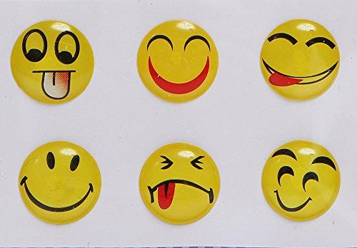 Xtra-Funky esclusivo adesivi per pulsante Home, confezione da, per iPhone, iTouch & iPad–smiley Faces design