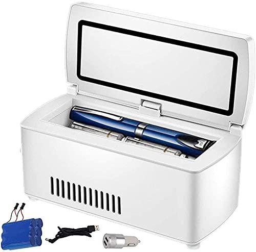 XnalLKJ Mini Nevera, Refrigerador De Insulina, USB Carga, con Adaptador De Encendedor De Cigarrillos De Coche Y Batería De Litio De 10200 MAh, Adecuada para Automóvil, Hogar, Viaje