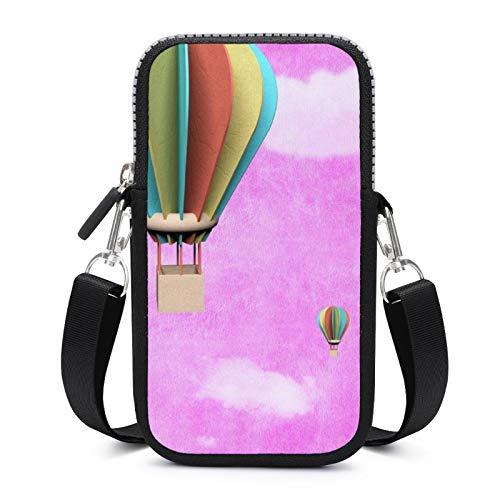 Handy-Geldbörse, Crossbody mit abnehmbarem Schultergurt, Luftballon, Pink, wasserdichte Tasche für Geld, Taille Geldbörse, Yoga-Taschen Mädchen