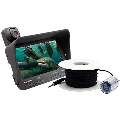 QiuGe Visuelle Fischfinder Doppel-Objektiv Visuelle Fischfinder mit Nachtsicht-Funktion L X2B 4,3-Zoll-Farb-LCD-Schirm-3.0MP + 2.0MP Doppel-Objektiv Visuelle Fischfinder mit Nachtsicht-LED-Licht und 2