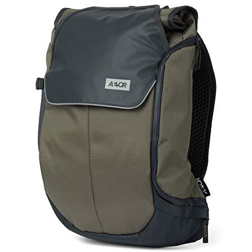 AEVOR Bike Pack - erweiterbarer Fahrrad-Rucksack, wasserfest, Rückenbelüftung, Laptopfach - Proof Clay - Grau