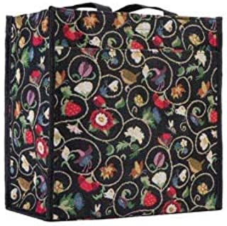 Signare Tapestry Shoulder Bag Shopping Bag for Women with Garden Flower and Creatures
