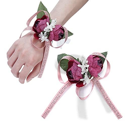Flor de mano, alto grado de simulación, accesorio de boda para lazos, broches, manualidades para bodas, bailes, aniversarios, cócteles.(purple)