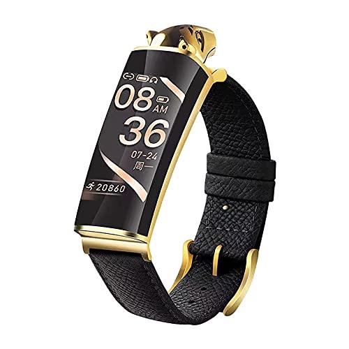 QFSLR Reloj Inteligente Frecuencia Cardíaca Presión Arterial Monitoreo del Sueño Auriculares Bluetooth Llamada Pulsera Inteligente Podómetro Calorías Hombres Y Mujeres Smartwatch,Oro