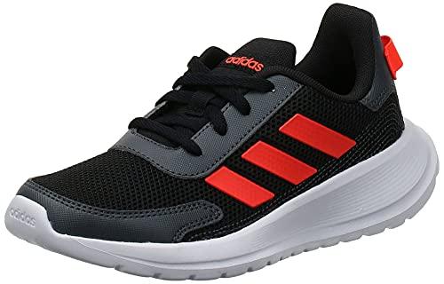 Adidas TENSAUR Run K, Zapatillas Running Unisex Infantil niños, Noir Rouge Solaire Gris Foncã, 34 EU