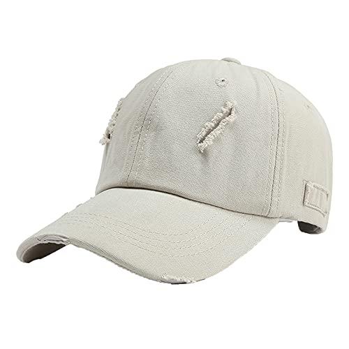 BIBOKAOKE Casquette de baseball unisexe réglable Mode casquette de baseball pare-soleil protection UV chapeau d'été casquette casquette respirant classique casquette d'extérieur casquette hip-hop