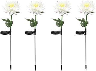 ASKLKD Lumière chrysanthème Solaire, LED Jardin terrasse Paysage décoration extérieur imperméable Peluche Pile Pile lumièr...
