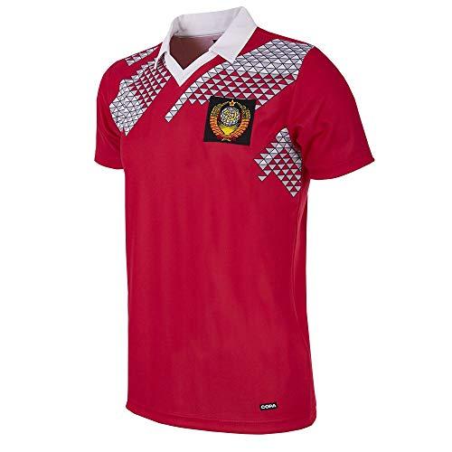 Copa CCCP 1990 - Camiseta de fútbol Retro para Hombre, diseño Mundo de 1990, Not Applicable, CCCP 1990 - Camiseta de fútbol Retro, Hombre, Color Rojo, tamaño XL