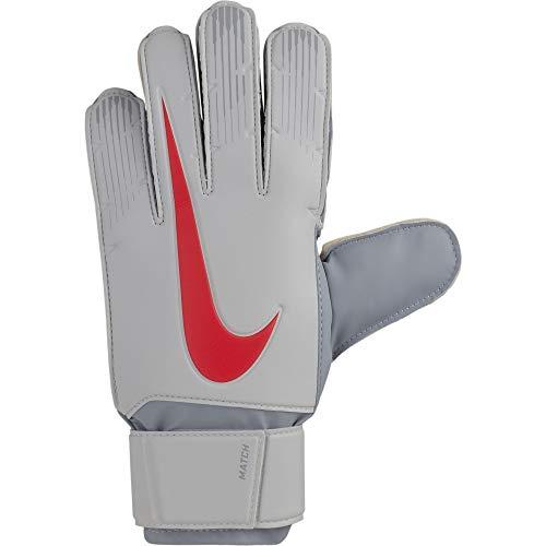 Nike Erwachsene Match Torwarthandschuhe, Pure Platinum/Wolf Grey/(Light Crimson), 9 (11.6-12.1 cm)