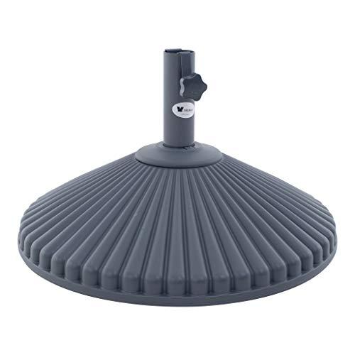 SORARA Parasol Pied | Plastique | Eco | Ø60 cm | Rond pour Ø38/Ø 48 mm Pole | 23 kg | à remplir avec de l'eau