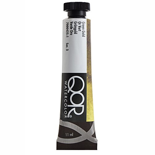 QoR Watercolor, Made by Golden Artist Paints, 11 ml Tube, Green Gold