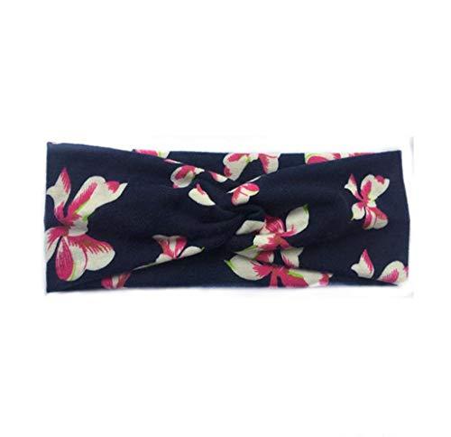 Mode Motif Floral Tissu Hommes Dchen Bande De Cheveux Mode Chic Dames Sport Bandeau Flexible Bandeau Dames 22 * 6 5Cm 1 (Color : #6, Size : 22 * 6.5CM)