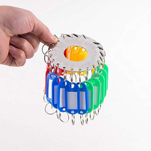 Aan de muur gemonteerd sleutellabel, markeerlabel, creatieve ring, eenvoudig op te bergen toetsenbord-28 cijfers + teken
