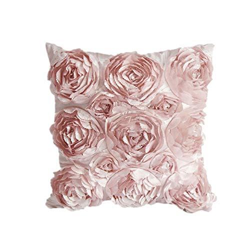 Demarkt Rose Stickerei Kissenbezug Auto Kissenbezug Sofakissen Kissen Hautfreundliche Polyester Kissenbezug Dekoration Kissen 42 * 42 cm
