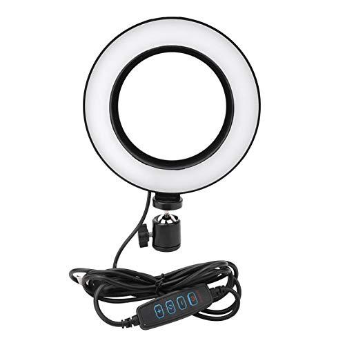 FOLOSAFENAR Lámpara de Relleno de Video LED Soporte Estable Luz de Relleno de Video Fácil de Transportar para Live Studio