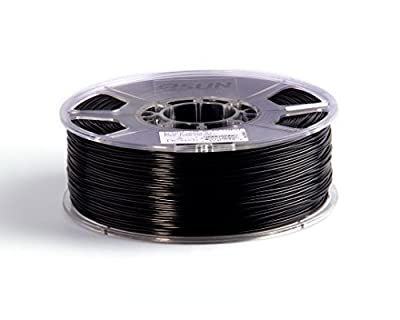 eSun 3D Filament - ABS, 1kg / 1.75mm - Schwarz (black), Druck Tempe. 220-260 Grad C, Universal für 3D Drucker z.B. MakerBot RepRap MakerGear Ultimaker Mendel Huxlep UP Thing-o-matic