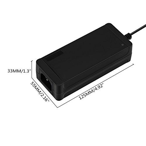 Universal 60W Netzteil, 12V 5A Steckernetzteil, AC/DC Adapter Trafo mit Eu Stecker für LED Streifen, CCTV, Drucker, Scanner, Router, LCD Monitor
