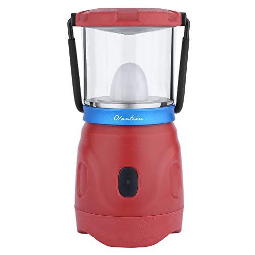 OLIGHT Olantern LED Lámpara de Camping Recargable 360 Lúmenes y 360 Grados Farol de Camping con Luz Blanca y Llama Luces de Tienda Impermeable para el Hogar,Emergencias,Camping,Senderismo y Más,Rojo