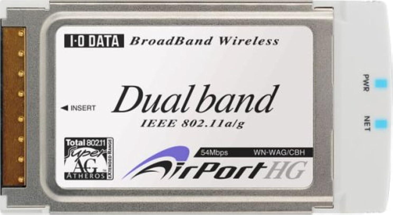 地上の先レモンI-O DATA IEEE802.11a/g/b対応 無線LANアダプター(CardBus PCカード) [WN-WAG/CBH]