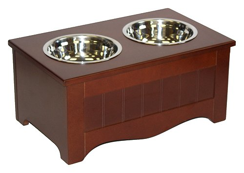 %48 OFF! A A Pet Project Chocolate Brown MDF Small Pet Food Server and Storage Box - 15.75