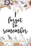 I Forgot To Remember Internet Address & Password Logbook: Premium Alphabetical Organizer To Protect Usernames and Passwords (Pink Pastel Floral)